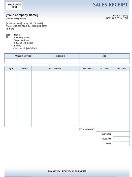 25 best Carpenter Invoice Templates images on Pinterest - cash receipt format word