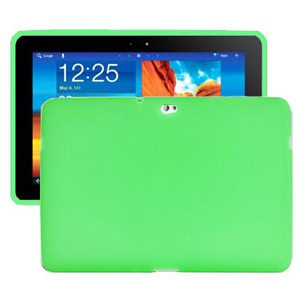 Soft Shell (Grønn) Samsung Galaxy Tab 10.1 P7500 Deksel