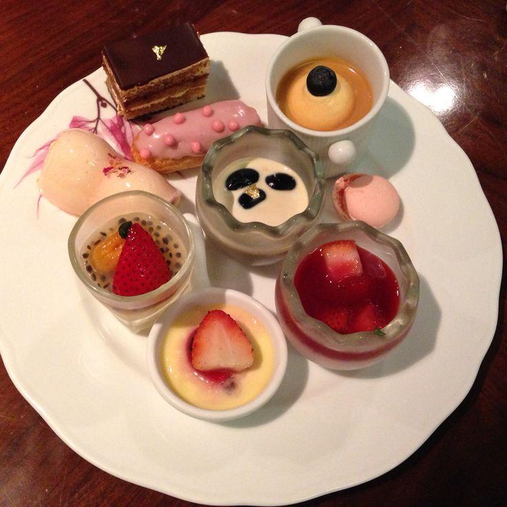 Dessert plate from a buffet restaurant!