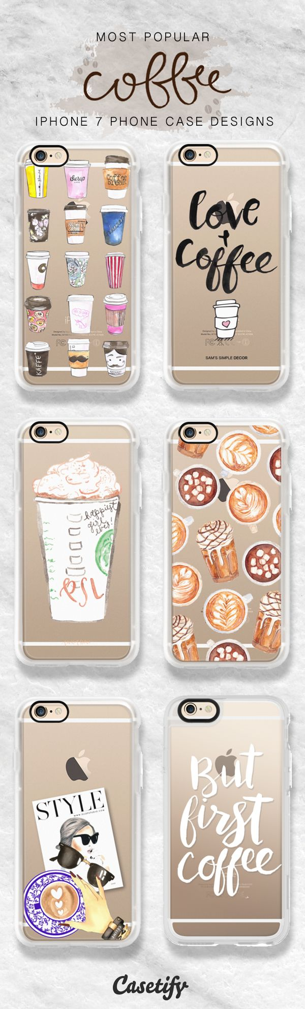 Most popular iPhone 7 case designs for you coffee addicts. Shop these designs here >> https://www.casetify.com/artworks/lx48KZnETv