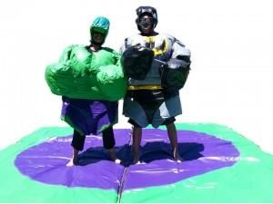 Superhero Sumo Suits From Castle Capers Jumping Castle Hire check out all the details at http://www.castlecapers.com.au