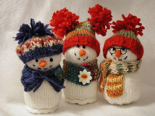 Bonhomme de neige tricoté
