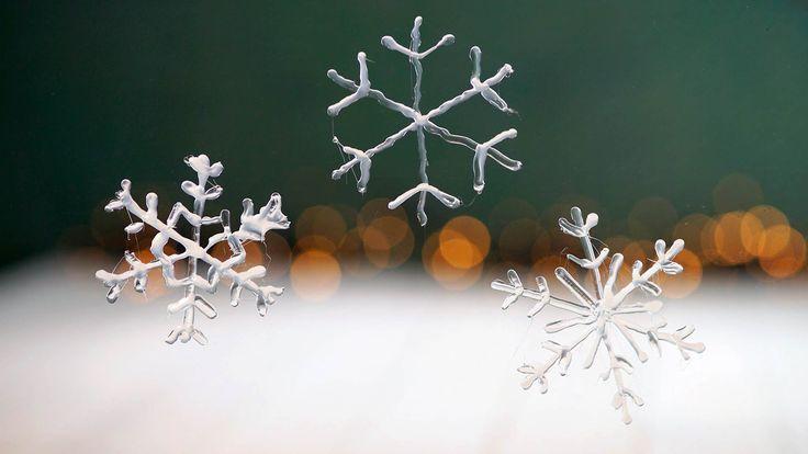 Te leuk: sneeuwvlokjes voor op het raam