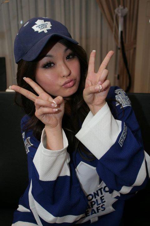 Coco reppin' the Maple Leafs