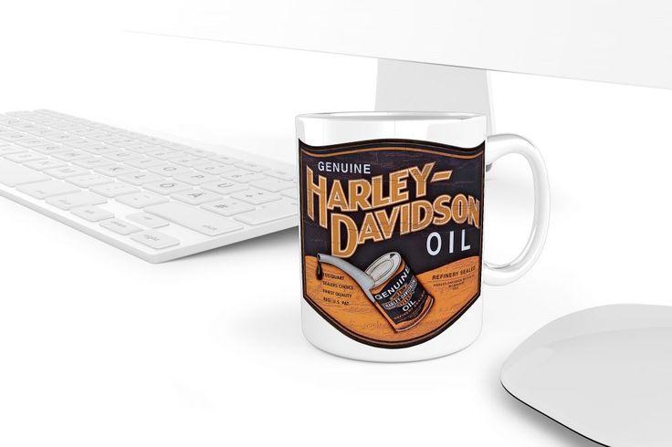 Retro Harley Davidson olaj bögre