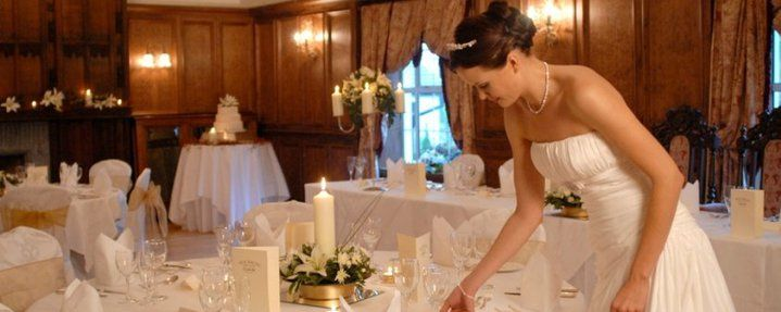 Bride in the reception room