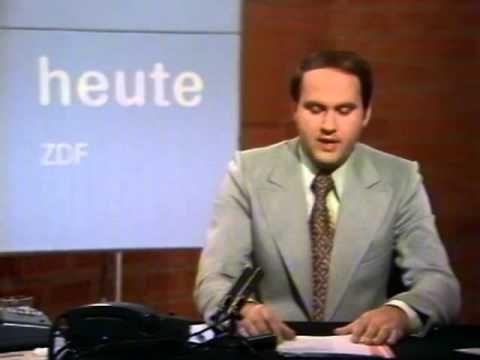 Sehr alte ZDF heute Nachrichten vom 4. September 1977
