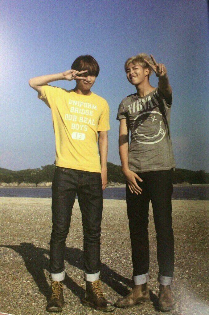 Taehyung y Rap Monster