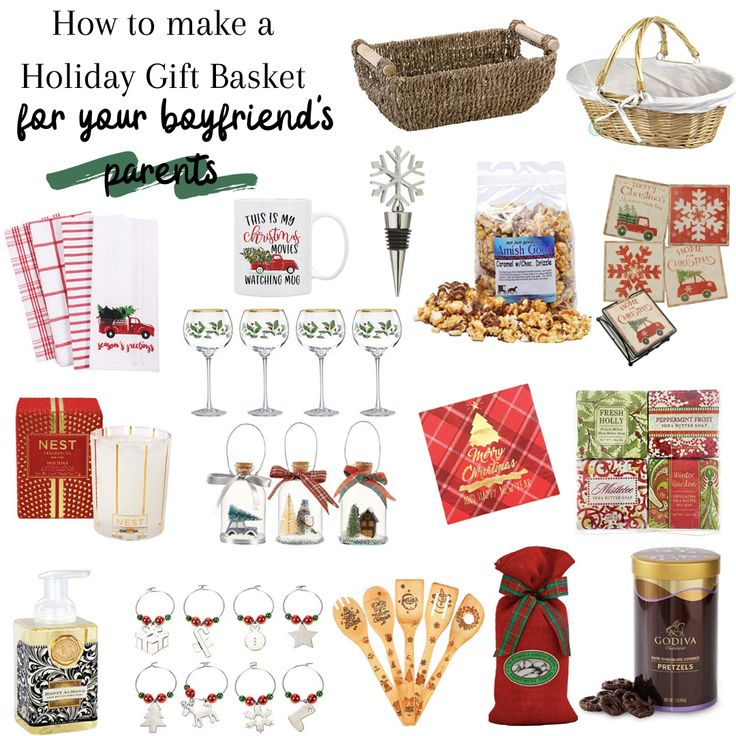 Holiday Gift Basket for your boyfriends parents Holiday