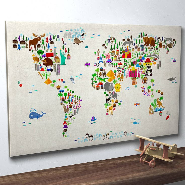 7 best images about playroom family room on pinterest storage animal world map print sciox Images