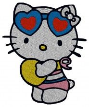 Cute Kitty Embroidery Design - Machine Embroidery Designs