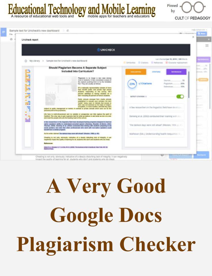 A Very Good Google Docs Plagiarism Checker Tool
