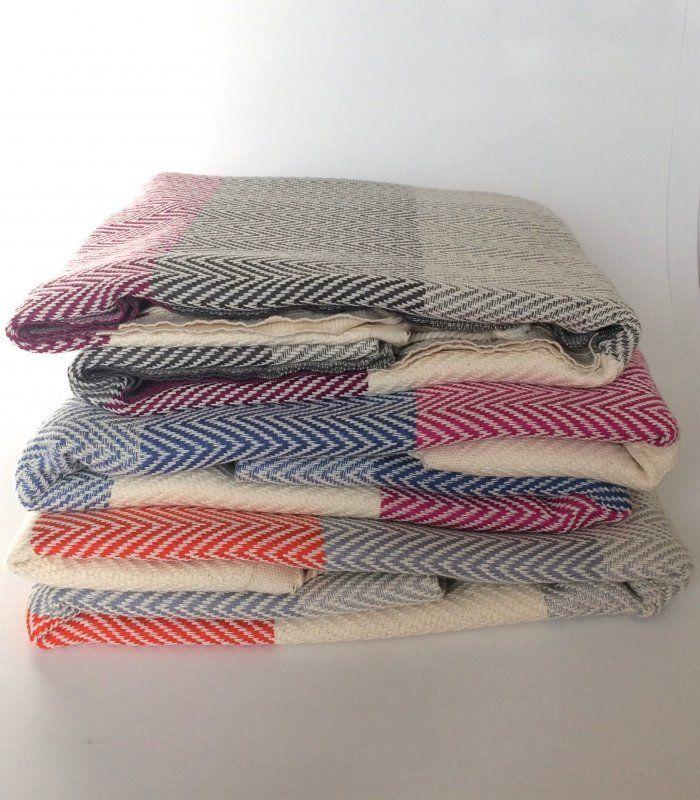 Fishbone Blanket, throw, towel by Summerforever.ca 100% Cotton