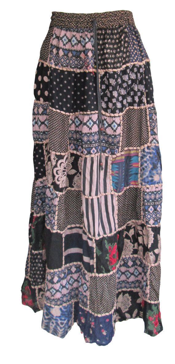 Patchwork Skirt / Hippie Skirt / Boho Gypsy Skirt  https://www.etsy.com/listing/247641446/patchwork-skirt-hippie-skirt-boho-gypsy?ref=shop_home_active_3
