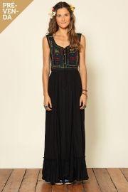 vestido longo pala etnica