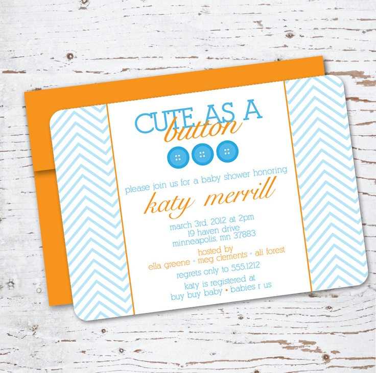 sip and see baby shower invitations cute as a button