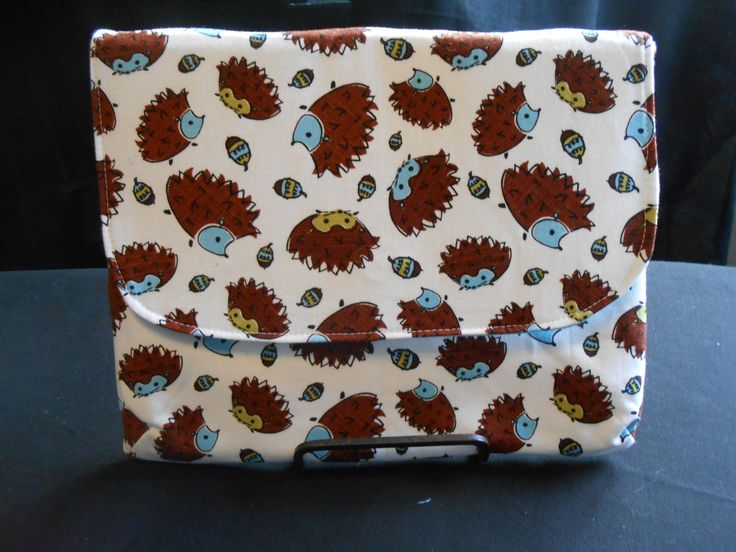 Hedgehog Padded Tablet Clutch- Electronics Case for iPad, Kindles & Tablets Under 10 inches, Back to School Gift, Device Sleeve - pinned by pin4etsy.com