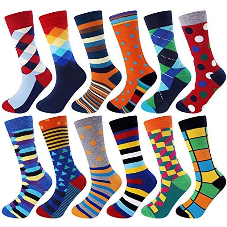 Jielucix Herren Bunte Kleid Baumwolle Socken Lustige Neuheit Cool Multipack 9 11 Me Funny Socks Cotton Socks Socks