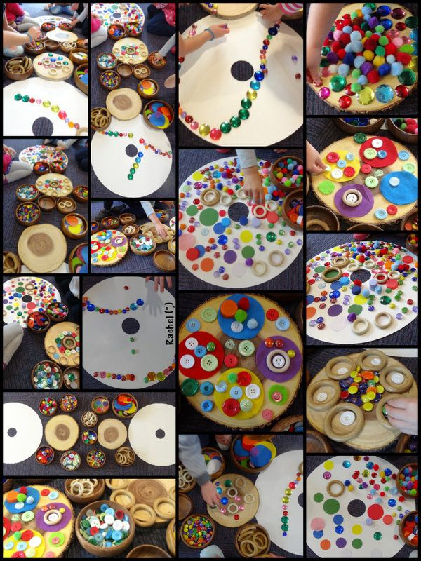"Transient art on circles - from Rachel ("",)"