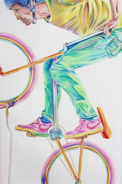 Color Ride by Jessica Costa, via Behance