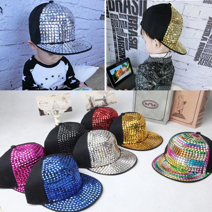 [Visit to Buy] 2015 Retail Kids Baseball Caps Non-mainstream rivet Hip hop Cap snapback hats Baby Boys Girls Peaked cap #Advertisement
