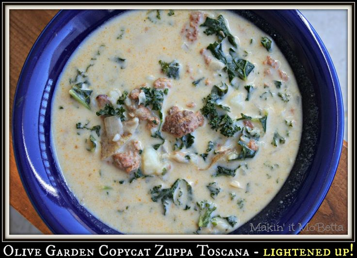 Makin' it Mo' Betta: Olive Garden Copycat Zuppa Toscana - Lightened Up!