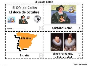 Spanish Columbus Day Emergent Reader 2 Booklets by Sue Summers - Dia de Colon, Christopher Columbus emergent reader