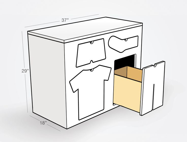 This Cool Childrenu0027s Dresser By Peter Bristol Has Drawers That Are Shaped  As Their Predetermined Contents. Called Training Dresser, The Piece Comes  In Two ... Nice Design