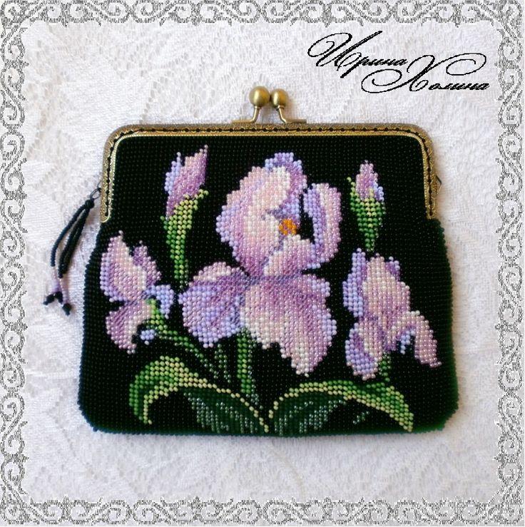 Сумочка из бисера Ирисы | biser.info - всё о бисере и бисерном творчестве