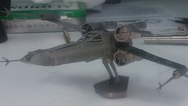3D Metal Model Build - X-Wing revisited - Star Wars