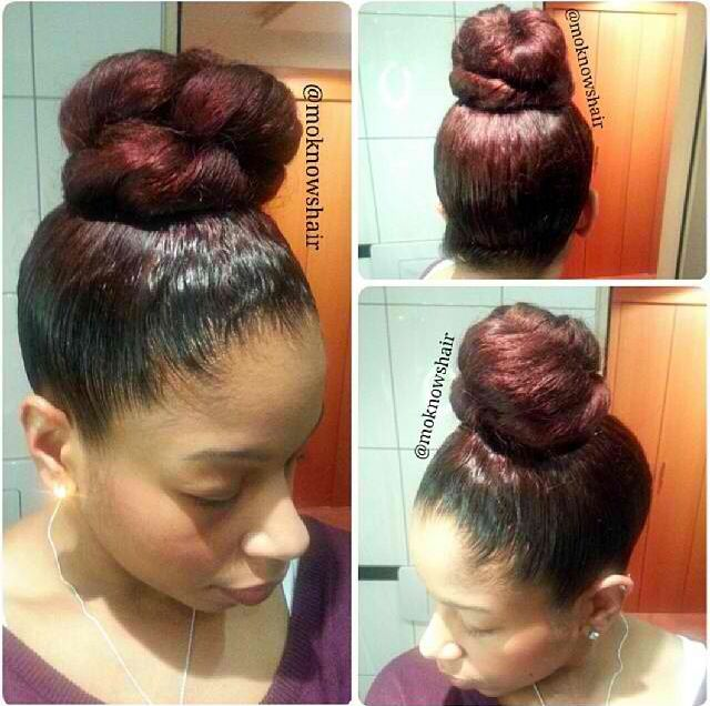 Marvelous 64 Best Images About Buns Son On Pinterest Top Bun Updo And Short Hairstyles For Black Women Fulllsitofus
