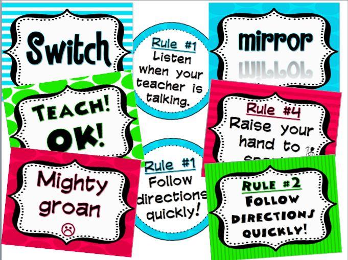 Kickin' it in Kinder: Whole Brain Teaching FREEBIE!!