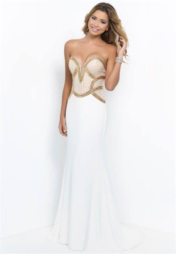 54 best long white prom dresses 2015 images on Pinterest | Prom 2015 ...
