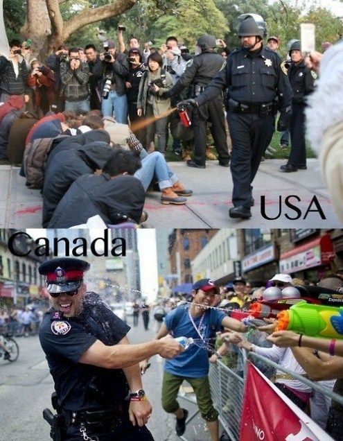 Funny Pictures - Canada vs. America