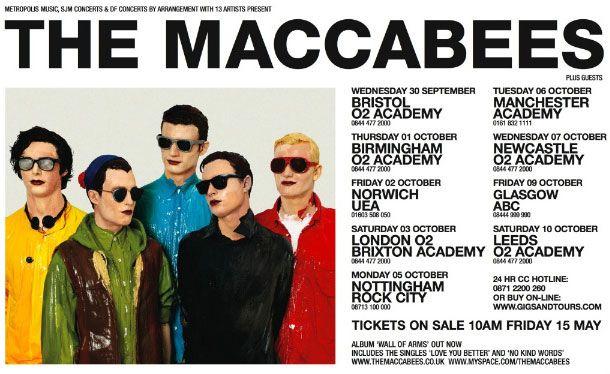 Maccabees tour poster