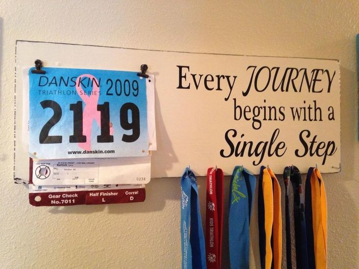 Race bib running medal holder and display by TheBarnWoodSign, $38.00