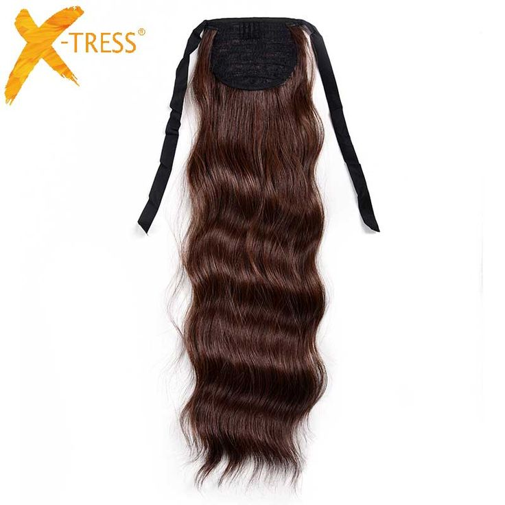"""X-TRESS 20""""  Natural Wave Ponytails Hair piece Heat Resistant Synthetic Claw On Hair Extensions Pony Tail for Party 5 Colors"""
