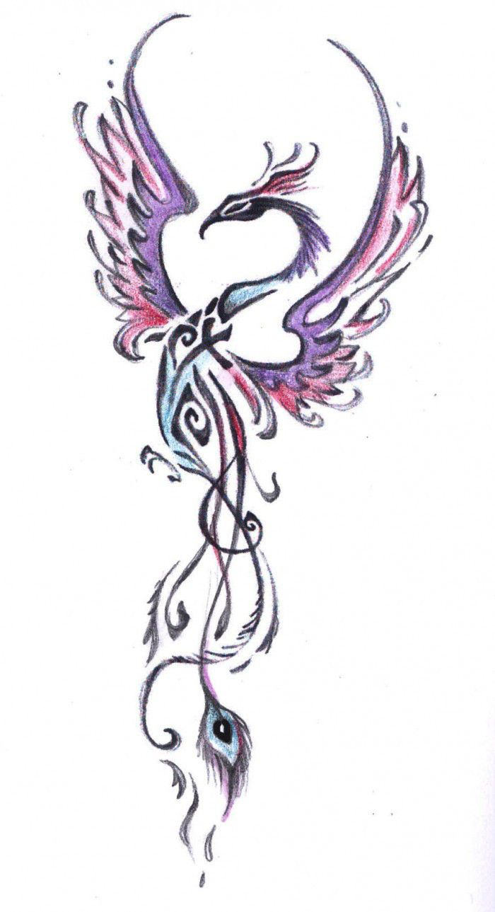 Colorful phoenix tattoo designs - Tribal Phoenix Tattoo