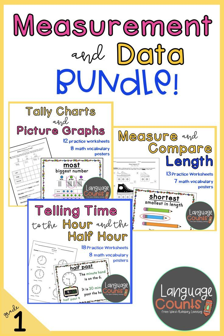 Distance Learning Measurement And Data Bundle Ccss Grade 1 Elementary School Math First Grade Math Vocabulary Posters [ 1104 x 736 Pixel ]