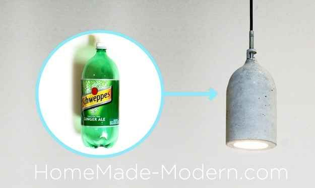 Pendant Lampshade | 22 Seriously Cool Cement Projects You Can Make At Home