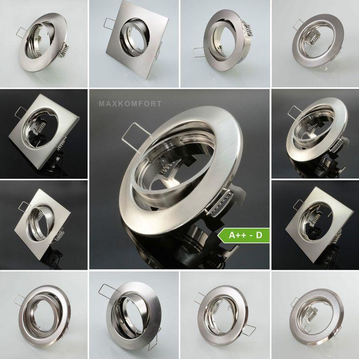 Einbaustrahler Einbauleuchte Einbauspot Einbaurahmen Edelstahl LED GU10 Spot | eBay