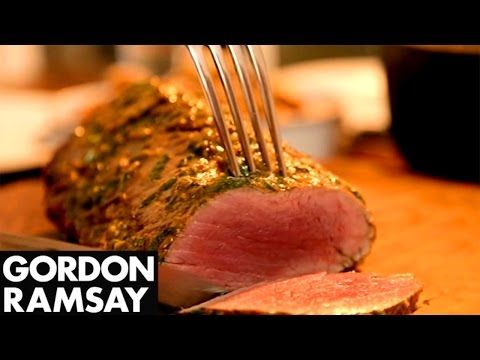 Rare Fillet of Beef with Salsa Verde & Truffled New Potatoes | Gordon Ramsay - Gordon Ramsay Recipes