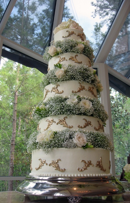 For that one special day....Babies Breath, Sweets Celebrities, Sweets Things, Baby'S Breath, Rustic Chic, Gold Leaf And Babys Breath Cak, Baby Breath, Special, Celebrities Ii