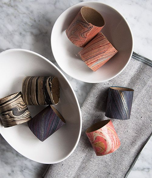 87 best napkin rings images on pinterest napkin rings place diy project marbled paper napkin rings solutioingenieria Images