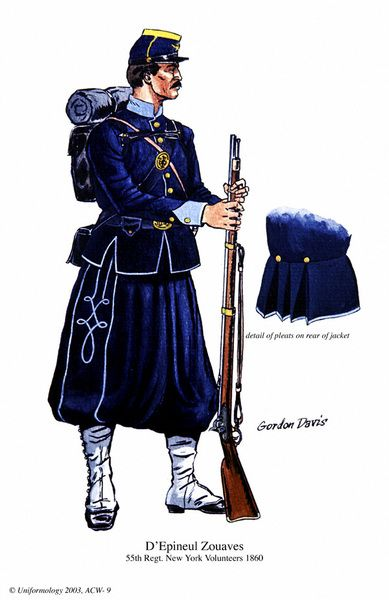 1860 - Maybe the fanciest yankee uniform I ever saw. D´Epineul Zouaves - 55th Regt New York Volunteers