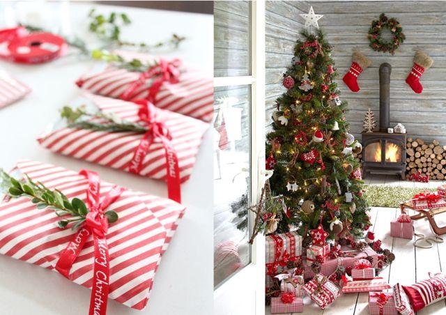 30 inspirations pour un Noël en rouge et blanc