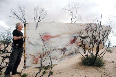 John Wolseley at Work in the Desert
