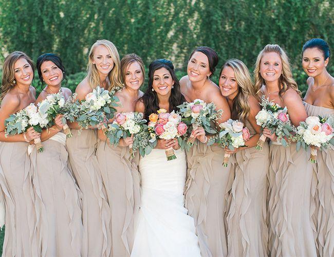 Neutral Rustic Bridesmaid Dresses