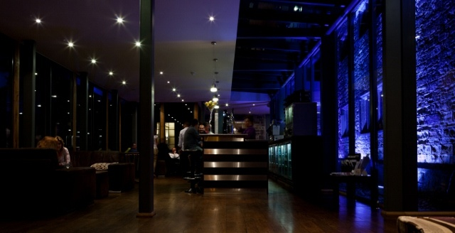 The Bar's stylish transition into night time.