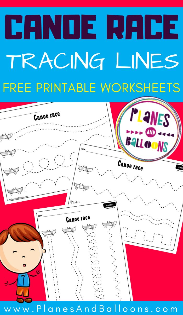 Tracing lines worksheets for 3 year olds - Planes ...